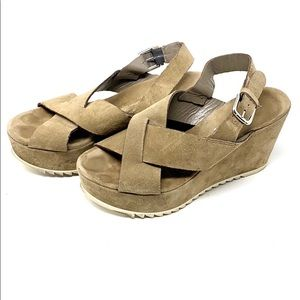 Minelli Italy Wedges Tan 6